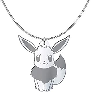 Collana Eevee Pokémon, Sterling Silver o placcato oro 18K, gioiello regalo amicizia, migliori amici