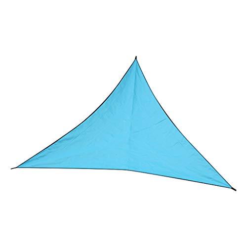 FBGood Dreieck Sonnensegel, Outdoor Sonnenschutz Abdeckungs Tuch Regenfestes Segel Atmungsaktiv Sonnenblenden UV-Schutz Verschleißfestem Markisen für Garten Balkon Terrasse (A, 3 x 3 x 3 m)