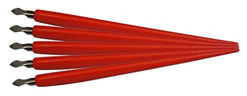 MAMMUT 144001 - Zubehör für Kratzbilder, 5er Pack Kratzmesser mit Halter, Ersatzteile, Scraper, Scratch, Messer Set zum Freikratzen von Bildern