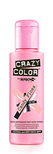Renbow Crazy Color Semi-Permanent Hair Color Dye candy floss 65 - 100 ml, 1er pack (1 x 115 g)