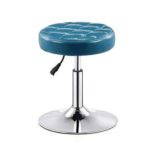 AGLZWY barkruk, draaibaar, zonder rugleuning, op wieltjes, 360 cm, draaibaar, in hoogte verstelbaar, in de keuken thuis, 3 kleuren, 2 maten (kleur: A, maat: 32 x 32 x 40 - 50 cm) AGLZWX6163r-2 Aglzwx6163r-2