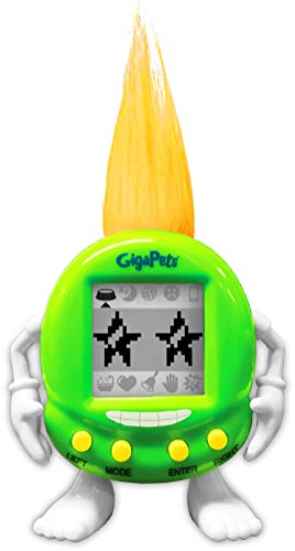 Giga Pets Trolls Virtual Pet Electronic Toy (Green) | Keep Your Troll Happy! | Transformed Nostalgic 90s Toy, Listen to Your Troll Friend Talk Back! for Kids of… All Ages!