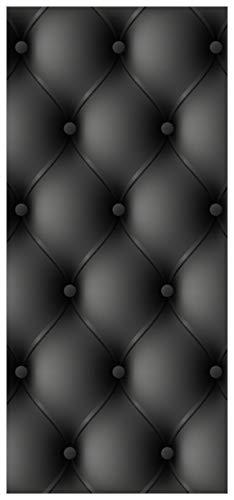 posterdepot ktt0011 Türtapete Türposter Schwarze Ledertür-Größe 93 x 205 cm