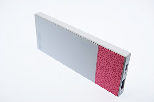 Extra platte quick-media – powerbank 3000 mAh polymeer litio. roze.