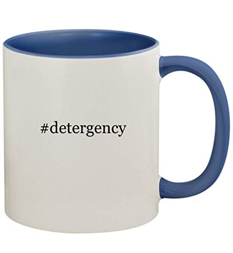 #detergency - 11oz Ceramic Colored Handle and Inside Coffee Mug Cup, Cambridge Blue