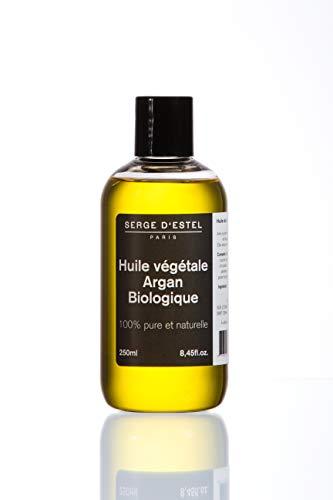 Huile Argan BIO 250ml Première Pression à Froid Huile Argan Biologique 100% Pure Naturelle Végétale Biologique Huile Soin Cheveux Cassants Peaux Sèches Anti-Rides Anti-Age Brillance Eclat