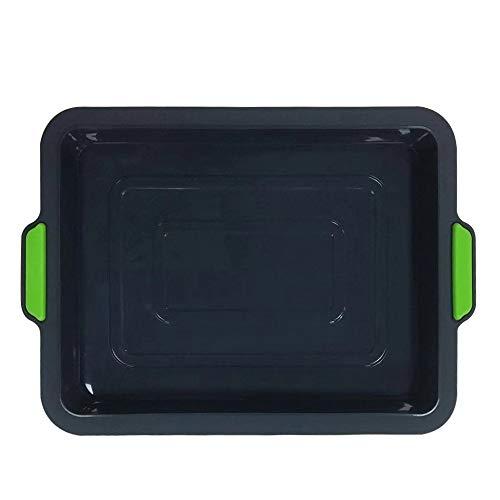 Pvnoocy Silikon Backform Set, Silikon Kuchenform Kastenform, Obstbodenform, Rundform, Quadratische, Antihaft & Leicht zu Reinigen, Flexibel, BPA frei