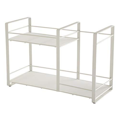 Organizador de escritorio multicapa, estante de almacenamiento de cosméticos de escritorio para cocina, baño, encimera, estante organizador de despensa