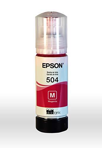 Garrafa de Tinta Original Epson EcoTank 504 Magenta - T504320