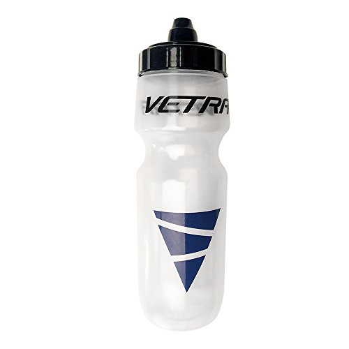 Vetra Sports Squeeze Water Bottle Leakproof Valve Hydration 22 oz Clear/Black/Blue Running Cycling Bike Soccer Football NEW