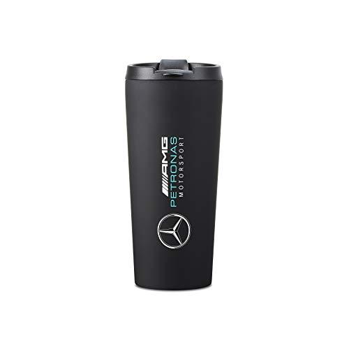 Mercedes AMG Petronas Thermobecher, Mattschwarz, offizielles Lizenzprodukt