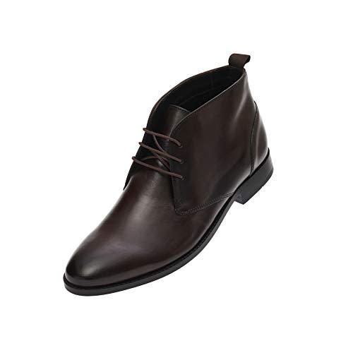 FRETZ men Sven Desert Boots | dunkel-braune Leder Schnürschuhe für Herren | für Business- und Casual-Outfits, Anzug & Jeans | hochwertiges Rindsleder, modisches Mokka | Größe 42
