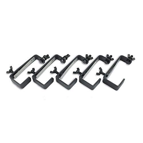 Theaterhaken 50kg Set CC-50 (5 Stück) - Stabiler Montagehaken mit Schutzlippe - bis 50kg | DELTATRUSS (schwarz)