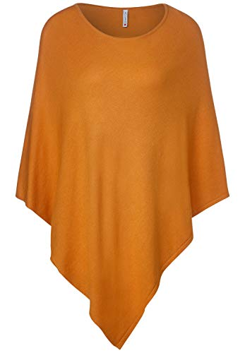 Street One Damen 580560 Poncho Mode-Schal, soft foxy caramel, One Size