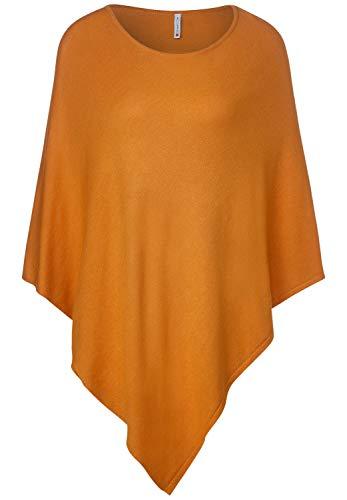 Street One Damen 580560 Poncho Mode-Schal, Soft Foxy Caramel, One Size