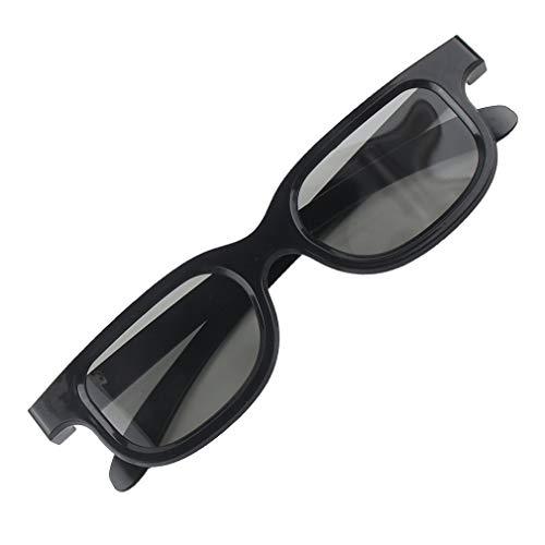 Deliu Gafas de película 3D polarizadas Circulares pasivas Mujer Hombre para cines de TV 3D Negro