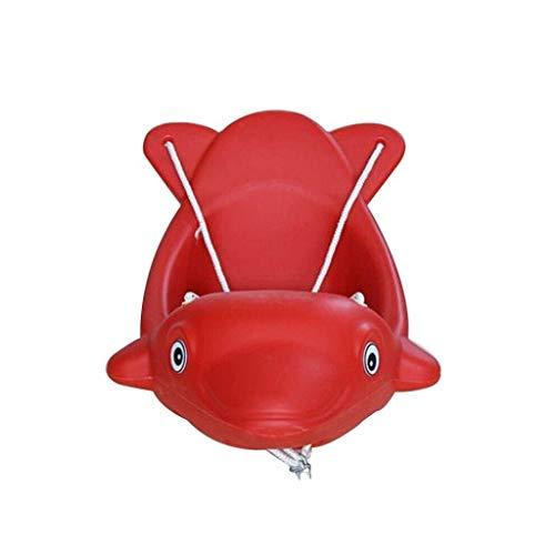 QULONG Columpio Asiento de Columpio para niños Forma de Lindo delfín Juego de Ejercicios Seguridad Traje de Columpio para niños Adecuado para Patio de Juegos al Aire Libre Interior Hamaca de jardín