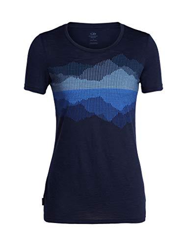 Icebreaker Damen Spector Cook Reflected Merino T-Shirt, Midnight Navy, S