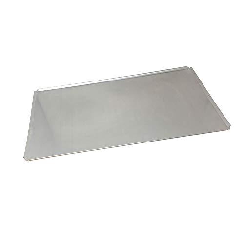Bandeja horno aluminio 1,5mm 44x35 bordes 45º. Bandeja plana para horno. Bandeja horno pan. Bandeja horno plana para panadería y repostería