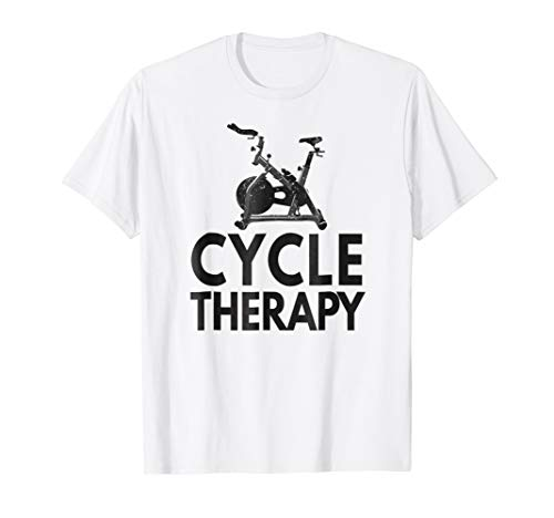 Funny Pun Indoor Spin Class Cycle-Therapy Cycling T-Shirt