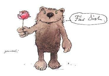 Janosch Postkarte Rose für Dich
