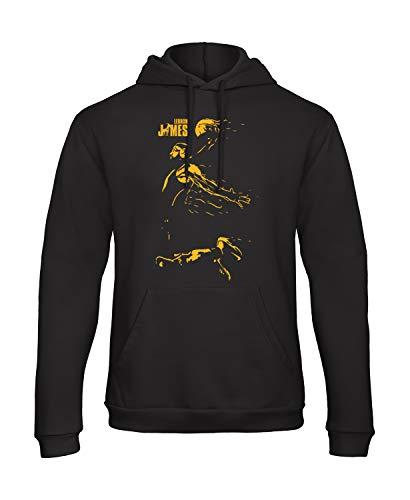 Bughyprint Felpa con Cappuccio Uomo Lebron James Los Angeles Lakers, XL