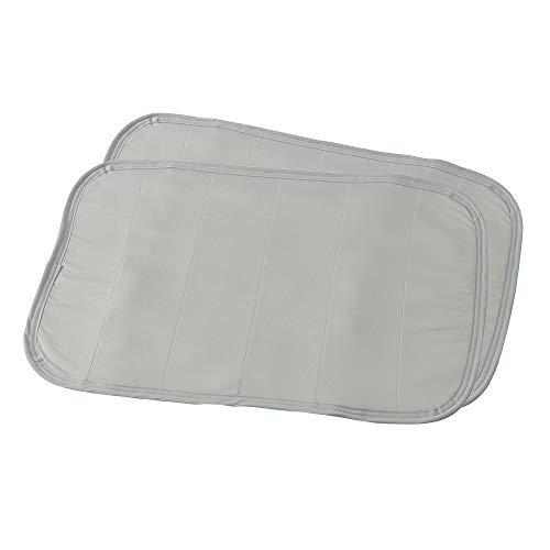 ナイスデイ 枕パッド 2枚組 夏用 グレー 43×63cm mofua 接触冷感 ひんやり クールタッチ 通気性に優れた 3Dメッシュ ムレにくい エアーまくらパッド 洗える #41660013