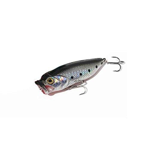 LUFA 80mm 13.5g Pesca Lures Top Water Nuoto Popper Lure Hooks Crankbait esca (colore casuale)