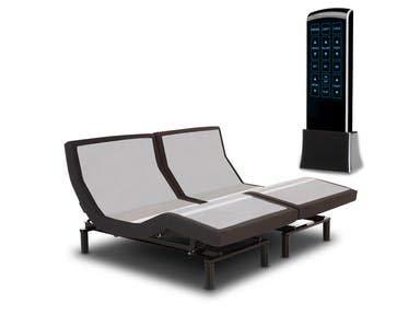 "New! Leggett & Platt Adjustable Bed The Prodigy 2.0, Dual Massage, Head Tilt, Underbed Light, Dual USB Port with 14"" CoolBreeze Gel Memory Foam Bed by DynastyMattress (Split Calking)"