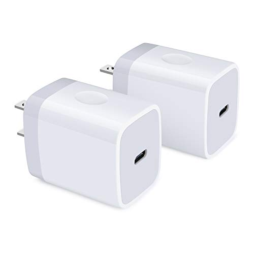 USB C Charger, HOOTEK 2Pack 18W PD 3.0 Wall Charger Power Delivery Type C Fast Charger Block Compatible iPhone SE 11 Pro Max XS XR X 8 Plus, iPad Pro, AirPods Pro, Pixel 4a 4 3 XL, Galaxy Note20 9, LG