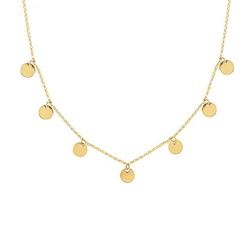 SINGULARU ® - Collar Mini Moons Oro para Mujer Plata de Ley 925 con baño de Oro de 18k - Joyas mujer