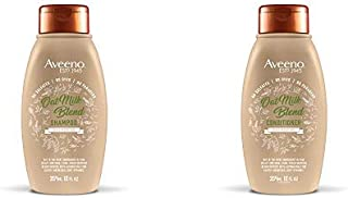 Aveeno Scalp Soothing Oat Milk Blend Shampoo & Conditioner Set for Daily Moisture and Light Nourishment, Sulfate Free, No ...