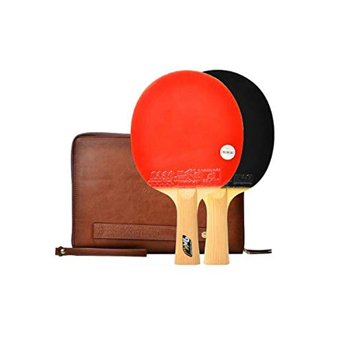 Cheap HUIJUNWENTI Table Tennis Racket, Pen-Hold, Horizontal Shot, Nine-Star Double-Sided Anti-Adhesi...