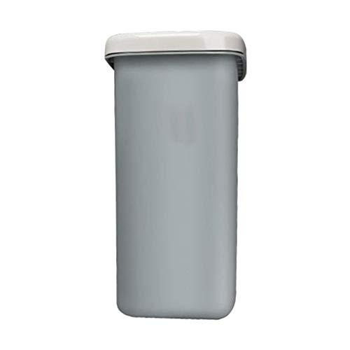 Papelera de Reciclaje de residuos Moderna/Papelera Rectangular Resorte de Basura con Tapa Oficina en casa Aeropuerto Hotel Escuela Papelera Bote de Basura de Cocina de 10L / Papelera