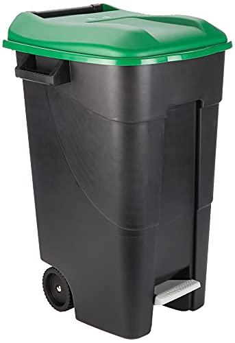Tayg EcoTayg 120 - Contenedor de residuos con pedal, Verde, 120 l, 60 x 56.8 x 88.6 cm