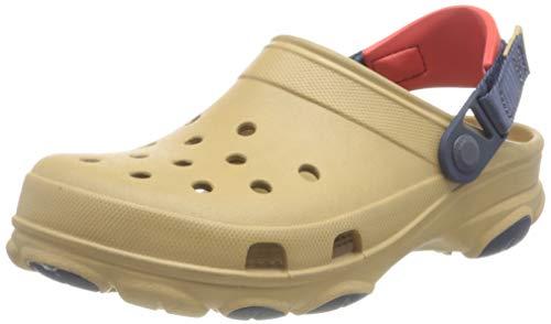 Crocs Classic All Terrain Clog Obstrucción, Unisex Adulto, Tan/Multi, 45/46