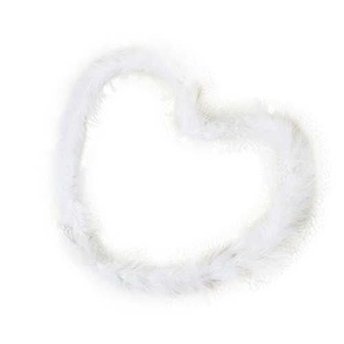 2 Meters Marabou Feather Boa Wedding Garland Hanging Streamers for Birthday, Wedding, Baby Shower, Nursery or Christmas (White)