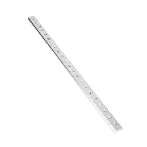 Aleación de aluminio Ranura en T Inglete Pista Jig T Tornillo Ranura de fijación 100 mm / 200 mm / 300 mm / 450 mm para mesa Sierra Ranuradora Herramienta de carpintería de mesa(450MM T)