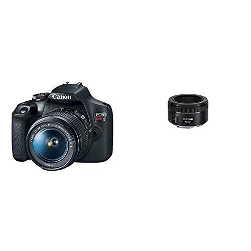 lens for canon rebels EOS Rebel T7 18-55mm f/3.5-5.6 is II Kit with EF 50mm f/1.8 STM Lens