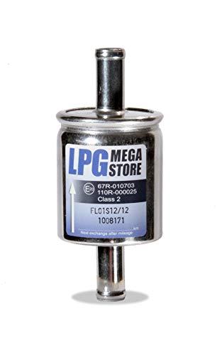 LPG-Megastore Gasfilter 12mm Autogas, LPG, GPL Filter Universell