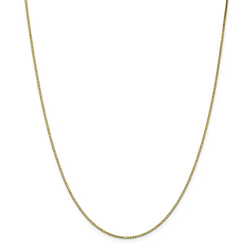 Diamond2Deal da donna in oro giallo 10 K 1.10 mm collana catena moschettone 50,8 cm