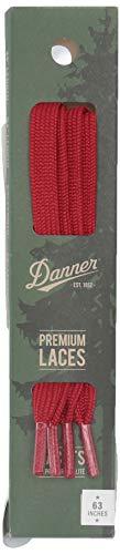 "Danner Laces 63"" Shoelaces, Flat Red, Medium"