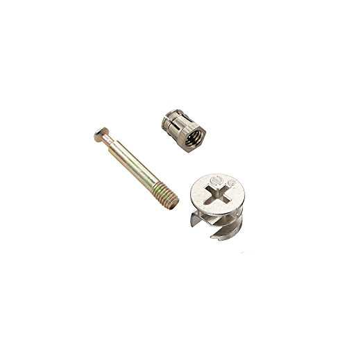 Flyshop Meubelkabinet Connector #261 Cam Lock Fittings 5mm Dia 40mm Lengte Deuvels Legering Noten 10 Sets