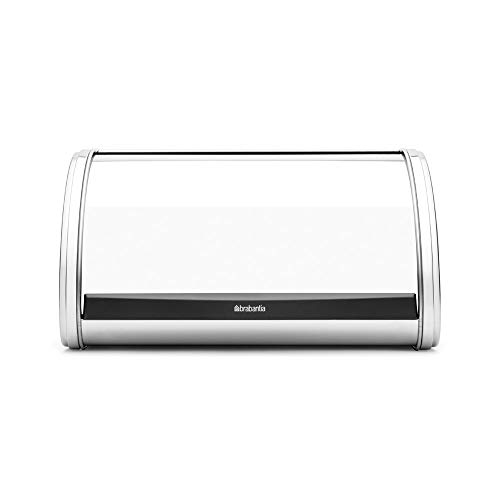 Brabantia 339585 Roll-Top Stainless-Steel Bread Box