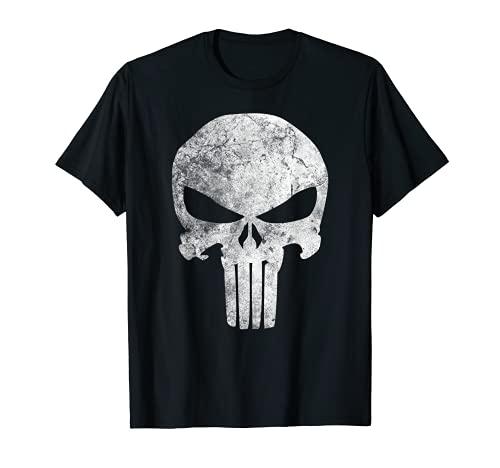 Marvel Punisher Skull Symbol Distressed Camiseta
