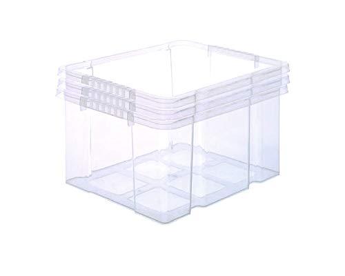 BigDean 3X Stabile Kunststoffbox Eurobox (Dreh Stapelbar) 44x35x24cm passt in Kastenregale