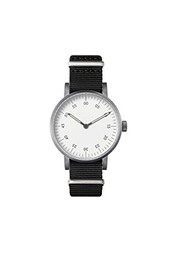 V03B Basic Analog Watch by Void Watches (Style: cepillado carcasa & Esfera Blanca & Negro Nylon pulsera)