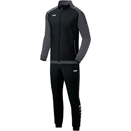 JAKO Herren Champ Trainingsanzug Polyester, schwarz/anthrazit, L