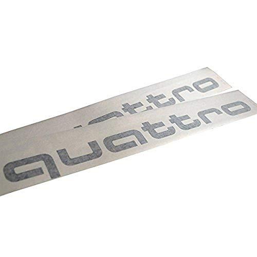 Audi 4G0064317AZ7G Dekorfolie mit Quattro Schriftzug in Eis-Silber