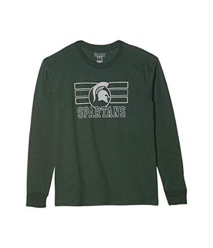 Champion College Kids Michigan State Spartans Long Sleeve Jersey Tee (Big Kids) Dark Green SM (6-7 Years)